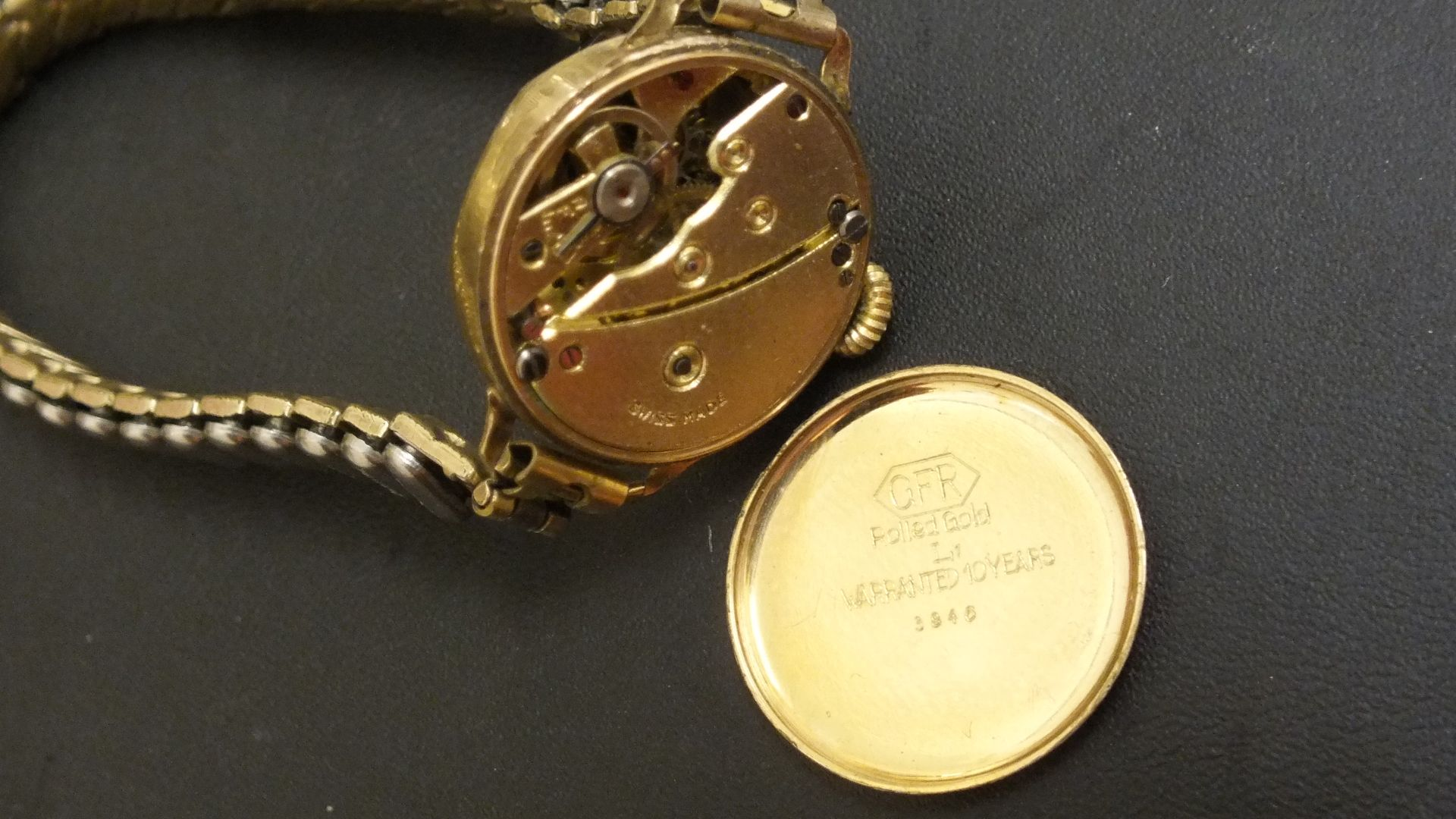 GFR Ladies Rolled Gold Swiss made Watch for project